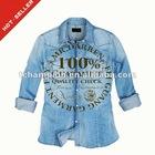 (# TG023SH ) 2012 Fashion Blue Ladies Cotton Beach shirt