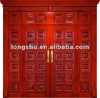 Exterior original wooden door with oak wood