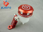 Motorcycle CNC Billet Brake / Clutch Fluid Reservoir With Mounting Bracket CRF Pitbike Monkey KLX