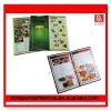 Hard Cover Attractive hotel Menu Book from China factory
