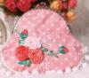 beautiful pink DIY stitch handbag, coin bag
