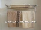 100% cotton satin files plain dyed high soft absorbant hanging bath towel wholesale