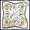 square floral silk scarves