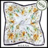 square floral silk scarves