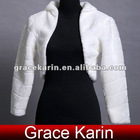 GK Faux Fur Long Sleeve Bridal Jacket CL2621