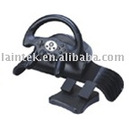black colour game racing wheel with pedal