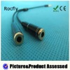 3.5mm audio splitter cable male to 2 female