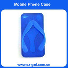 TPU Case for Apple's iPhone4 Slipper, with Unique Design, Various Colors are Available