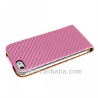 Newest design, carbon fiber leather case for apple iphone 5