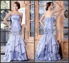 Cheap Lavender Mermaid Sweetheart Lace Up Back Sation Formal Evening Prom Long Dresses