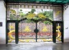 New style Chinese design of main gate of Wrought iron