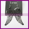 Stainless Steel Angel Wing Charm Jewelry Dangle Earring