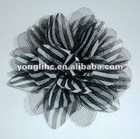 "3.5""Stripe chiffon flower"