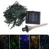 22m Solar Powered 200 LED String Light Lamp Blue Light for Outdoor Garden Christmas Decoration