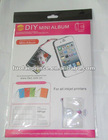 DIY mini Big square shape album(inkjet photo printing paper)-suitable for mobile,vedio games,bag,etc.
