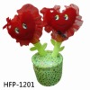 Red Valentine's Day Gift Plush Potted Plant