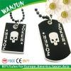 2012 promotional skull black metal dog tag