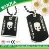2012 promotional skull black metal dog tag