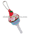 New Brand Fashion Design Ice Strawberry Screen PVC key cover