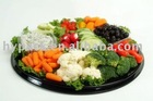 round plastic vegetable/meat/sushi packaging tray