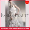 Charming tulle off white long lace cathedral veils
