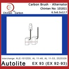 Autolite EX 93 (EX 92-93) electric carbon brush
