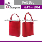 2012 Red Color Fashionable Wholesale Felt Bags