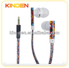 colorful cable earphone with different design