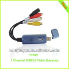 1ch USB2.0 video easycap for win7,Sky blue USB video capture,1ch capture audio without the sound card,1 channel dvr