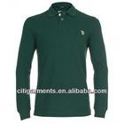 Men's Green Long Sleeve Polo Shirt 3355