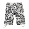 summer new arrival leisure black&white mixed fashion men short pants 22DK06Y