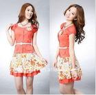 fashion lady flower business suit