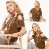 Eall.cz 2012 Fashion design khaki ladies casual blouse