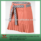 Orange Casual Women Golf Dress