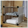 Low price beautiful plastic folding storage boxes