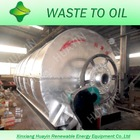 Tyre pyrolysis machine with high oil output