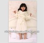 100% cotton high quality terry beige children bathrobe