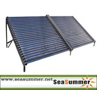 Non-pressurized solar collector SC-V for solar hotel heating project
