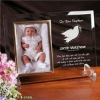 apple shape transparent acrylic photo frame