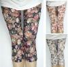 fashion 3/4 length Lady flower sexy lace leggings