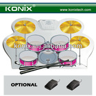 portable with beautiful color roll up usb drum kit