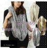 BGP002 Genuine Knitted Rabbit Fur Round Scarf Magic scarf OEM Wholesale/Retail