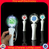 Hot selling LED spinning ball , LED glowing spinning music stick ball manufacturer&supplier