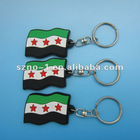 Newest Syria Flag 3D soft pvc keychain free syria keychain