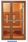 1 people Infrared sauna cabin with Chromatherapy of hemlock wood
