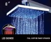 2011 modern self-power square led big rain shower
