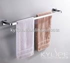 brass bathroom wall mounted double towel bar