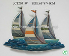 Sailboat designs wall hanging for home decor
