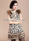 newest knitted rabbit fur vest for winter