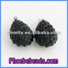 Wholesale Jewelry And Necklace Component Black Crystal Pendant Beads CNP-Z03